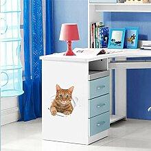 Schöne katze aufkleber für toilette dekorationen
