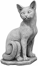 Schöne Katze Steinfigur Gartendeko Steinguss