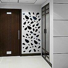 Schöne klassische Komfortable 3D Vinyl abnehmbare Wall Sticker zur Dekoration vinilos decorativos adesivi, schwarz