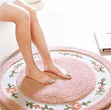 Schöne Kreis Schlafzimmer Teppich-Fußmatten Computer Stuhl Teppich Drehstuhl Korb Hocker Couchtisch Teppiche ( farbe : # 5 , größe : Diameter70cm )