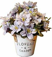 Schöne künstliche Blumen Seide Blumen gefälschte Blumen mit Korb Lila