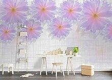 Schöne Lotus Flower Tapete Vlies Tapete 3D-Effekt