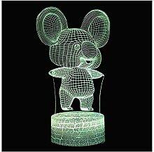 Schöne Maus Thema 3D Lampe LED Nachtlicht 7