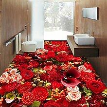 schöne rose meer wohnzimmer 3d bodenbelag fliesen