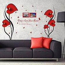 Schöne Rote Anthurium Blumen Schmetterling