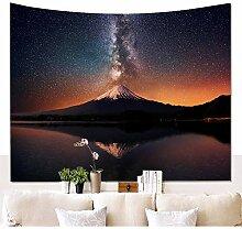 Schöne Schneeberg mit Sternenhimmel Wandteppich