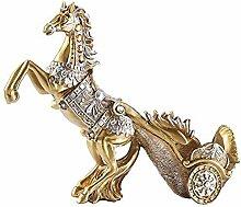 Schöne Weinregal Pferd Statue Ornamente