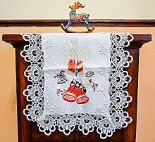 Schöne Weiß Oval Weihnachten Tischläufer,