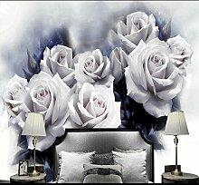 Schöne Weiße Rose Retro-Tapete 3D Für