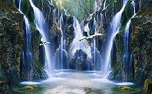 Schöne Wonderland Valley Wasserfall Fliese 3D