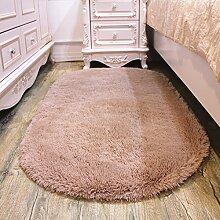schönen ovalen Teppich/Haushalt Wohnzimmer Couchtisch Teppiche/ warm Schlafzimmer Teppich/Matten neben dem Bett-K 140x200cm(55x79inch)
