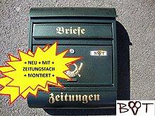 Schöner Design Briefkasten R grün moosgrün