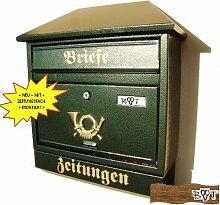 Schöner Design Briefkasten W grün moosgrün