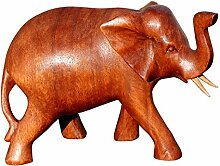 Schöner Holz Elefant Statue Deko Afrika