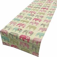 SCHÖNER LEBEN. Tischläufer Elefanten Pastell