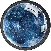Schöner Sternenhimmel schwarz weiß Blau, 4Pack
