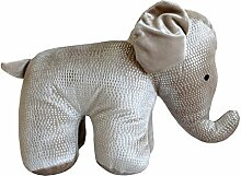 Schöner Türstopper Elefant in edel glänzendem Design Doorstopp Tür Stopper