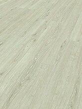 Schöner Wohnen Kollektion Vinylboden Home Collection, Eiche weiß/ hochwertiger, heller Vinyl Bodenbelag mit gebürsteter Struktur & Landhausdielen Optik in Weiß-Grau  / 7 x (1207 x 216 x 9 mm)