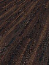 Schöner Wohnen Kollektion Vinylboden Home Collection, Eiche geräuchert / hochwertiger Vinyl Bodenbelag mit Landhausdielen Optik & Holzstruktur in Braun / 7 x (1207 x 216 x 9 mm)