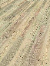 Schöner Wohnen Kollektion Vinylboden Home Collection, Pinie weiß geölt / hochwertiger Vinyl Bodenbelag mit sägerauer Struktur & Landhausdielen Optik in Grau / 7 x (1207 x 216 x 9 mm)