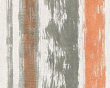 Schöner Wohnen Tapete, Mustertapete in Vintage-Betonoptik, creme, grau, orange, 944254