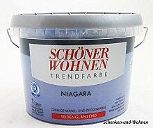 Schöner Wohnen Trendfarbe1 L. Cremige Wandfarbe Niagara Seidenglänzend