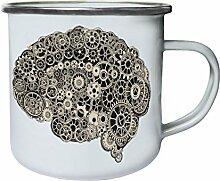 Schönes abstraktes Design eines Gehirns Retro,