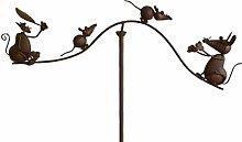 Schönes Gartenpendel Katze & Maus Gartenstab