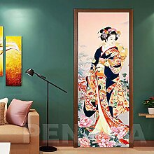 Schönes Kimono-Mädchen 90x210cm 3D