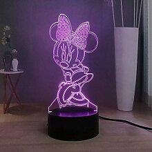 Schönes LED Nachtlicht Mickey Minnie Mouse