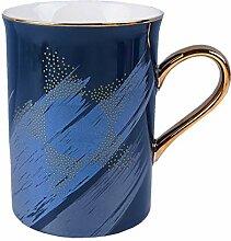 Schönes Paar Keramiktassen, Kaffeetasse Deckel