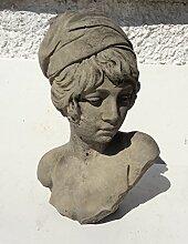 Schönes Stein Garten Büste von Young Girl Statue