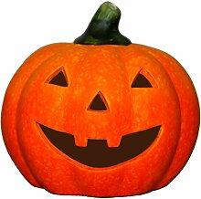 Schönes Windlicht Kürbis - Dekoration Halloween,