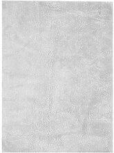 SchoenesWohnen24 Teppich Bali 110 Silbergrau 120cm