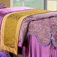 Schönheit Bett Betten/Teile/Bett Renner/Tischdecke decke/Hotel/Tisch/Abdeckung Tuch-E 130x40cm(51x16inch)
