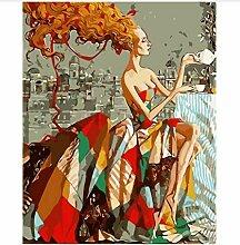 Schönheit Dame Bild Malen Nach Zahlen Kits