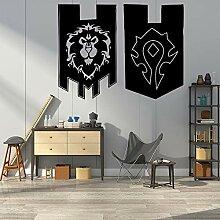 Schönheit Löwen Flagge Wohnkultur Wandaufkleber