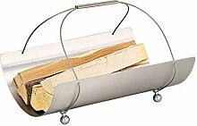 Schössmetall Holzkorb Edelstahl mit Seil, Collo-3