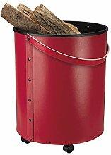 Schössmetall Rumba Holzbehälter/Korb Leder, rot,