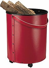 Schössmetall Rumba Holzbehälter/Korb Leder, rot, 04220150