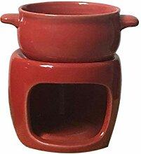 Schokofondue Set | Keramik Schokoladenkäse Fondue