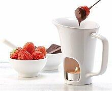 Schokofondue Tasse für Obst - Fondue Set mit