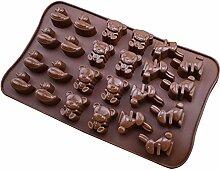 Schokolade Form Cartoon Ente Bär Hase Ice Cube