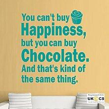 Schokolade Glück Küche Essen Bake Quote Wall