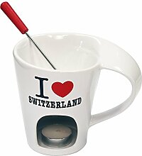 Schokoladenfondue-Set «I Love Switzerland»