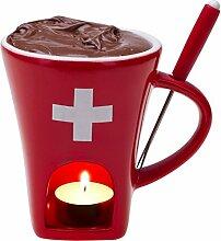 Schokoladenfondue-Tasse «CH-Kreuz»