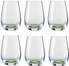 Schott Zwiesel 118761 Becher, Glas, grün, 6