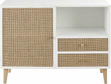 Schränkchen mit 1 Tür und 2 Schubladen, Details