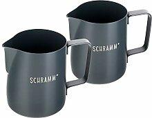 Schramm® 2 Stück Milchkännchen in grau