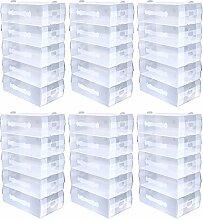 Schramm® 30er Set Schuhboxen transparent